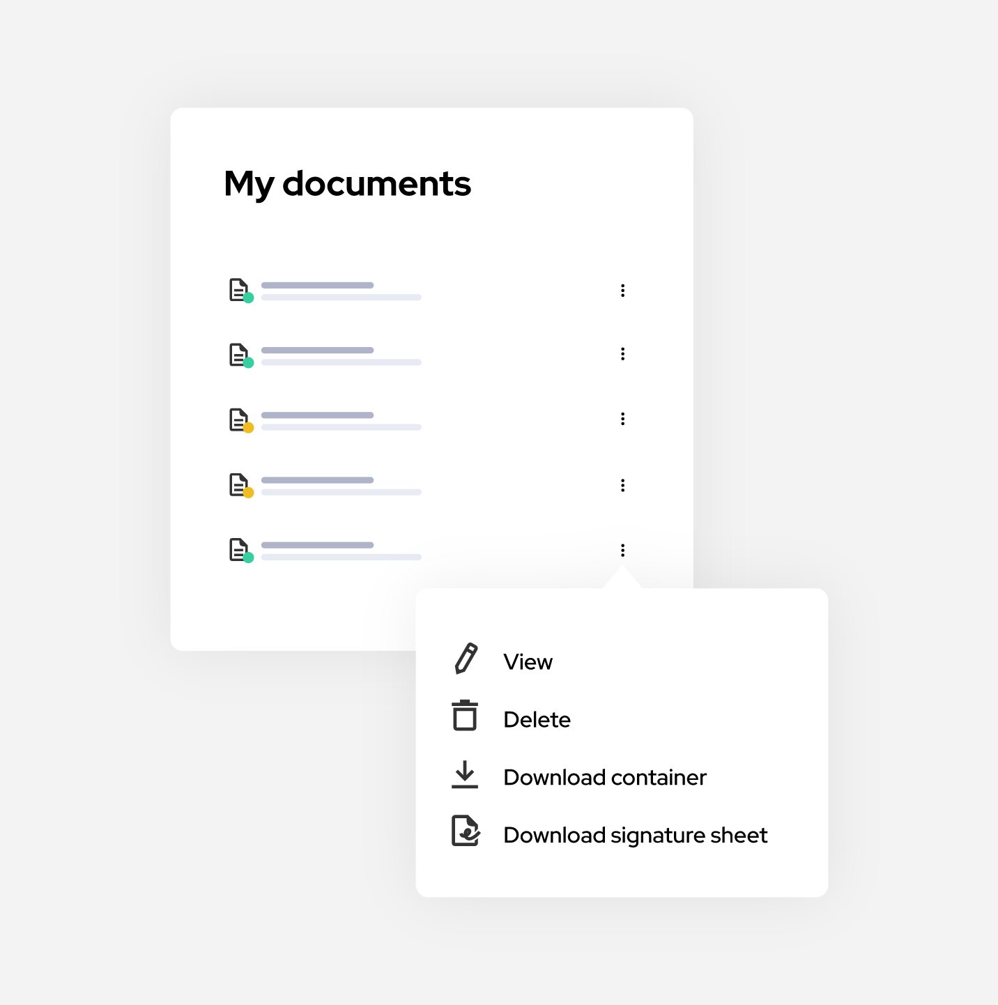 All your contracts in one place, secured and backed up