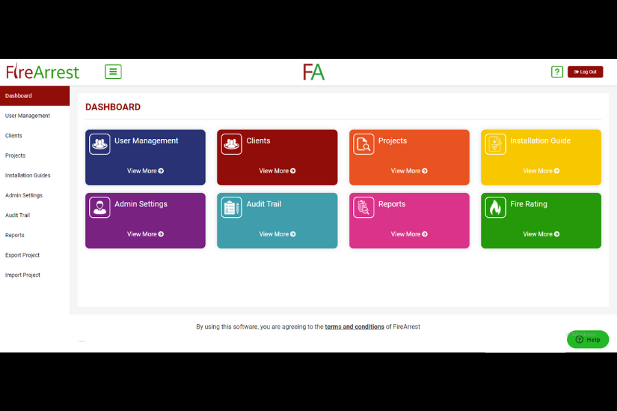 FireArrest home page