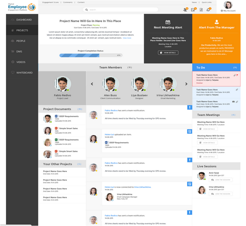 DEEP team collaboration spaces