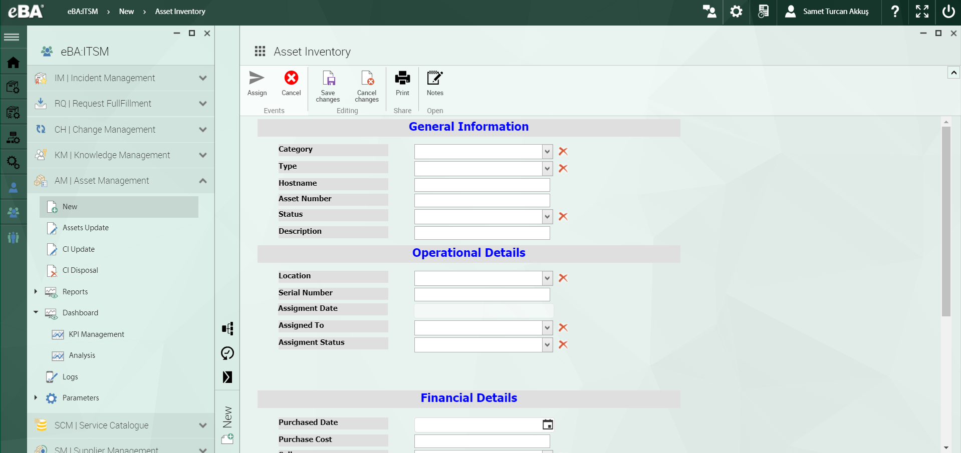 eBA ITSM Software - Asset management