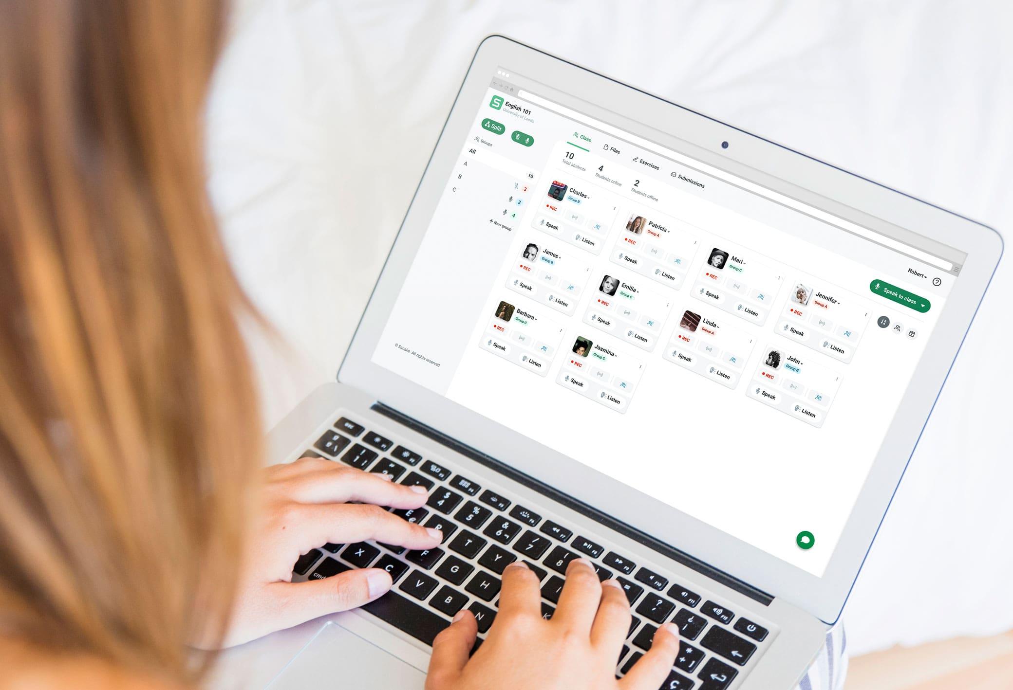 Sanako Connect dashboard