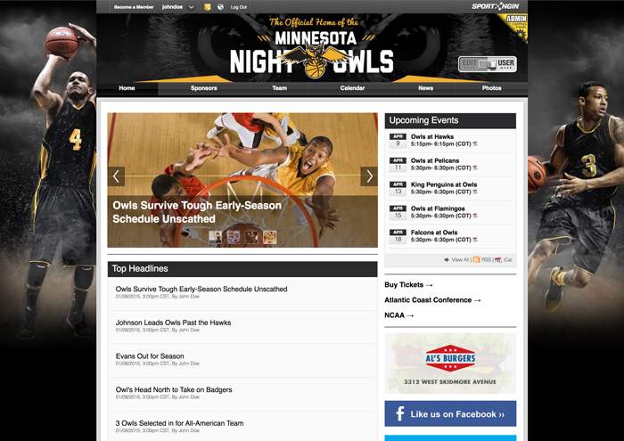 Build websites that are specially catered for sports management, coverage and promotion with tailored widgets and elements pre-packaged