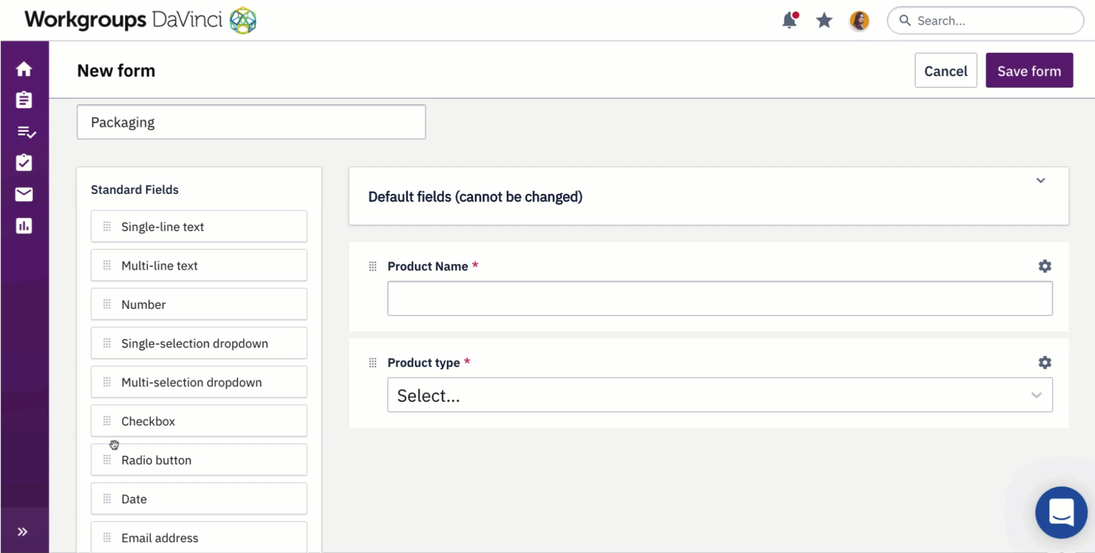 Enter strategy and creative briefs and/or job specs via configurable and dynamic intake forms