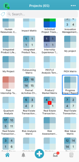 Priority Matrix projects