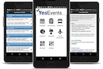 YesEvents screenshot: YesEvents provides an ERMobile app for attendees available for both iPhone and Android