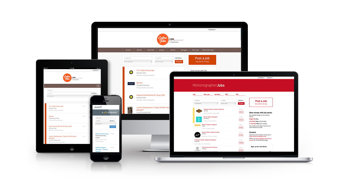 JobBoard.io is optimized for mobile devices including tablets and cell phones.