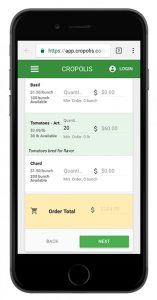 Mobile friendly ordering for customers with credit and debit card payments