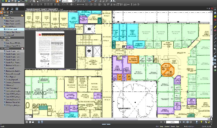 Bluebeam Revu screenshot: 2D PDF editing with Bluebeam Revu