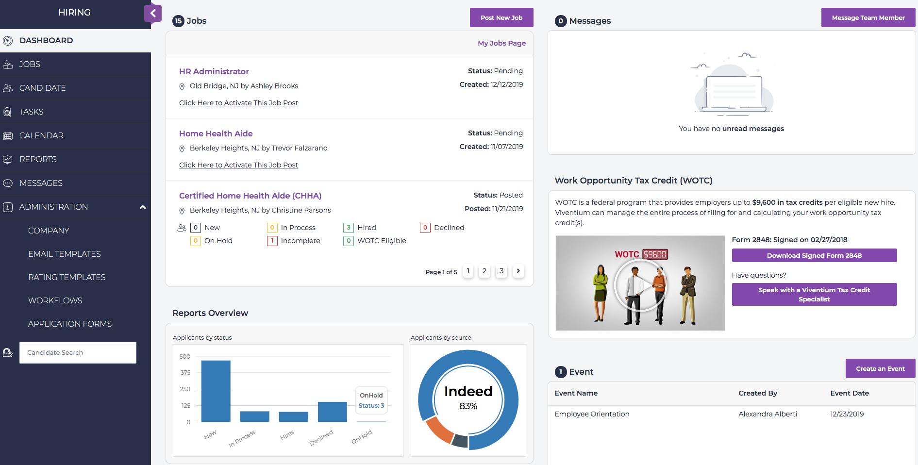 Viventium Software Software - Applicant Training