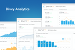 Captura de tela do DivvyHQ: With more than 150 analytics integrations, Divvy's content analytics module provides performance dashboards to help producers see how their content is moving the needle (or not).
