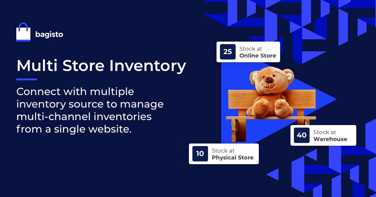 bagisto Multi Store Inventory