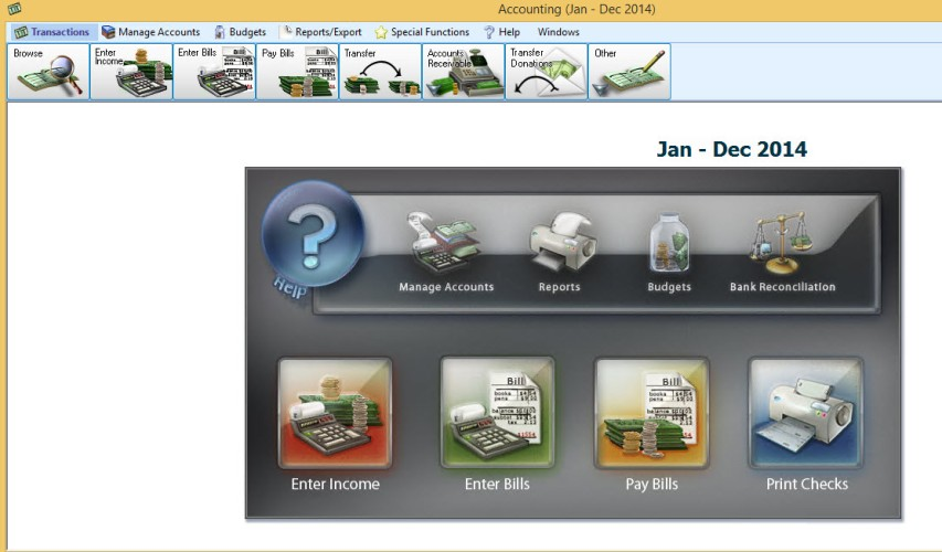 Church Windows accounting module allows to enter income & bills and print reports
