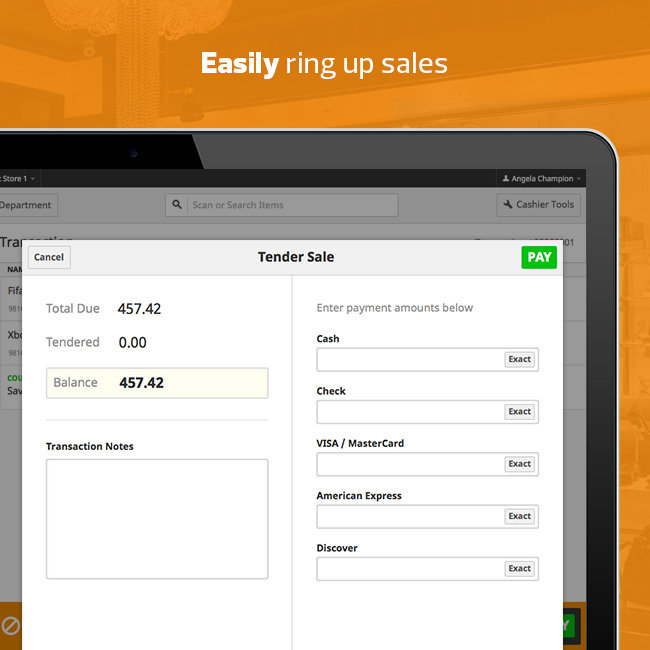 Ring Up Sales