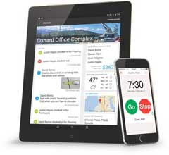 The companion time clock app brings workforce management to compatible mobile devices