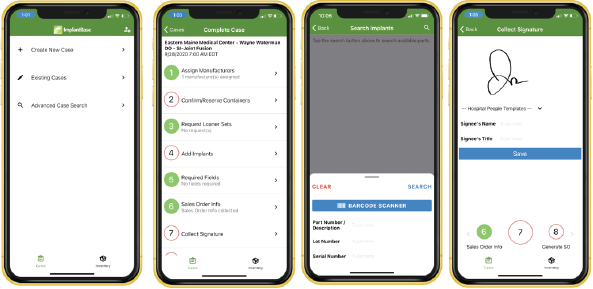 Access powerful functionality for case entry, sales order generation, inventory movement, customer man- agement, visibility, communication and more. Available for both iOS and Android.