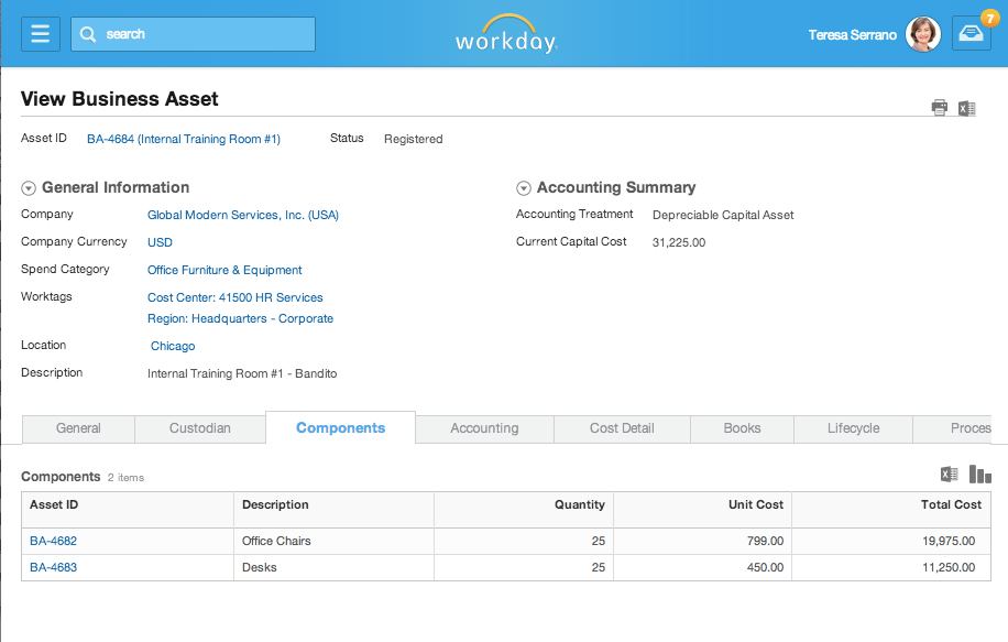 Workday Financial Management - Assets