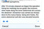 Symplast screenshot: Symplast examination notes