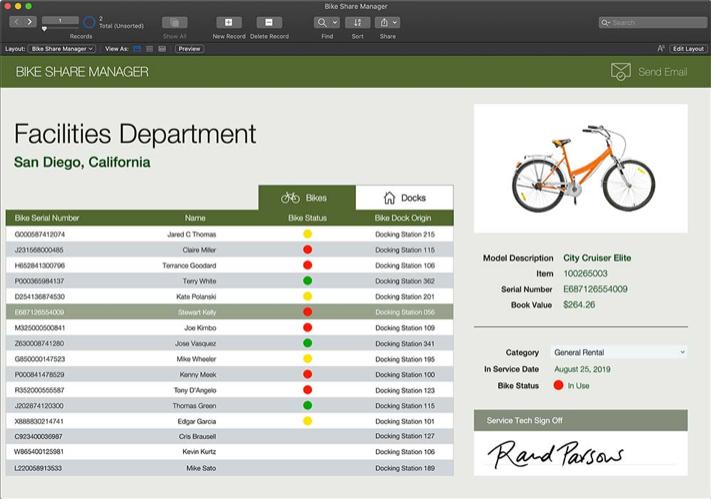 FileMaker custom design example