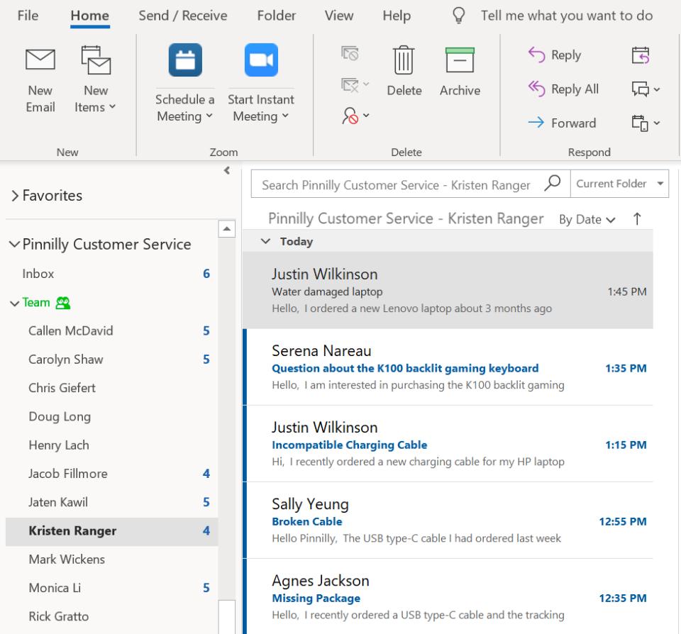 Emailgistics Outlook integration