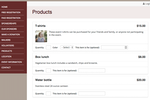 DoJiggy Pledge screenshot: Products, such as apparel and merchandise, can also be sold