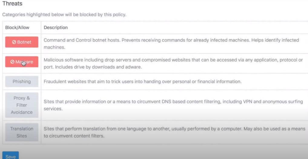 DNSFilter threats