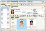Procare Desktop screenshot: Procare family data page displays family tree and primary details