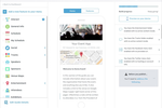 Guidebook screenshot: Guidebook features a drag and drop builder that allows app templates to be customized visually without requiring any coding