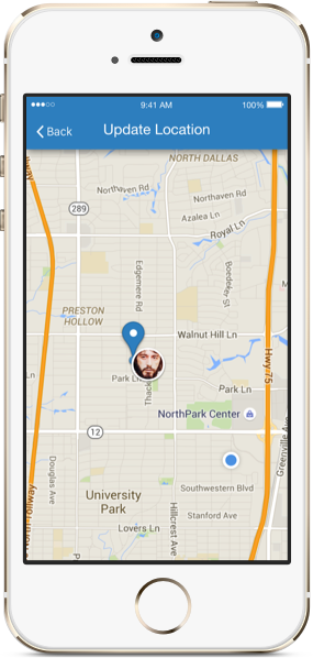Field agent geolocation tagging to confirm that team members reach or leave the job site