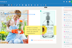inMotion ignite screenshot: The Review + Approval portal allows you to easily mark up images, PDFs, videos, website, email & more. Draw, annotate, highlight, and comment to share feedback and collaborate. Reviewers can compare versions side-by-side and set their approval status.