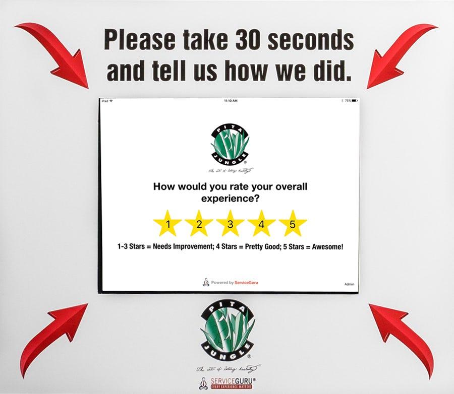 ServiceGuru Kiosk Software - ServiceGuru Kiosk customer feedback collection screenshot