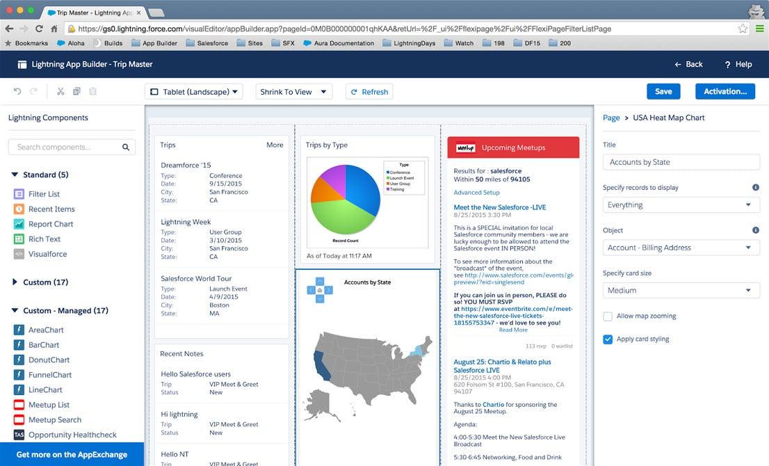 Salesforce Platform Software - Lightning App Builder