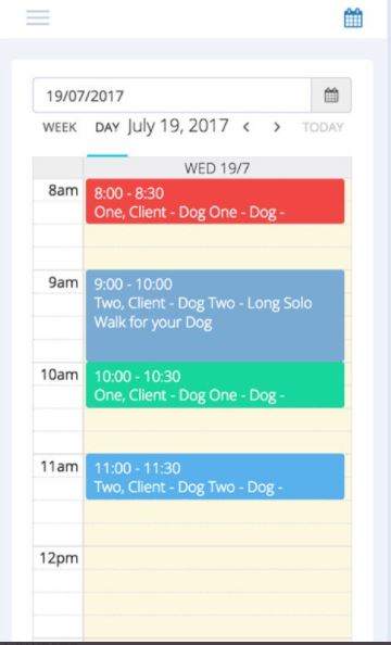Petbeing booking management