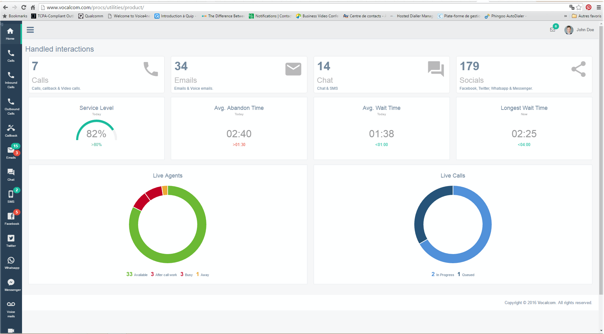 Vocalcom Software - A New Breed of Call Center Software. Manage Your Call Center More Effectively. Make data-driven decisions with historical reporting and Vocalcom Live's real-time metrics