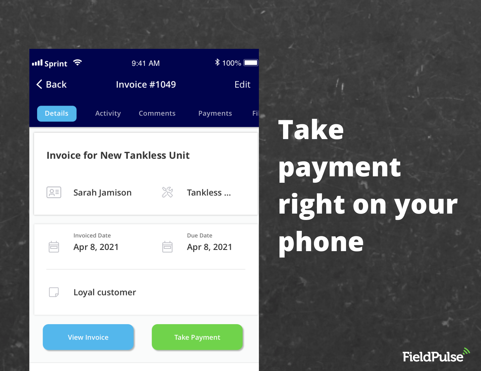 FieldPulse Software - Easy invoicing