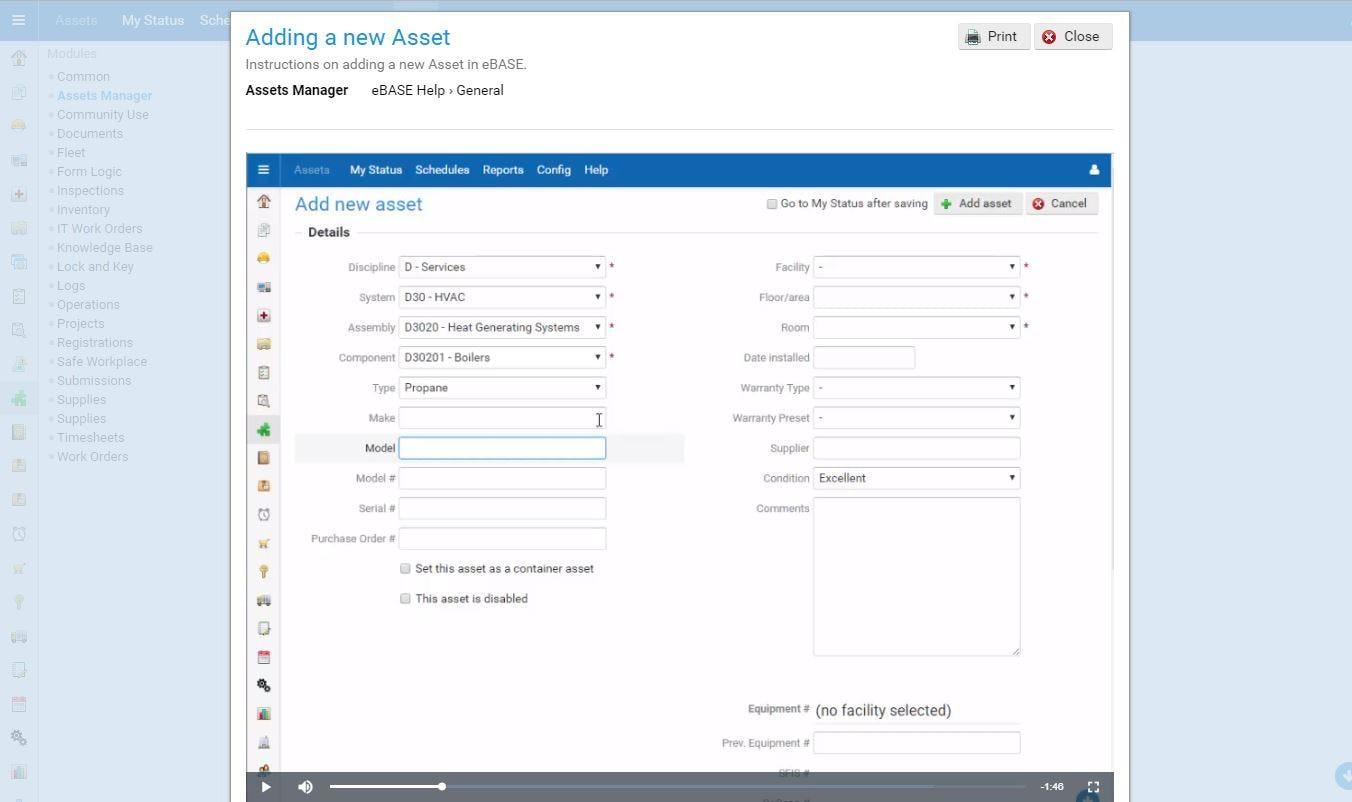 eBASE Software - eBASE new asset