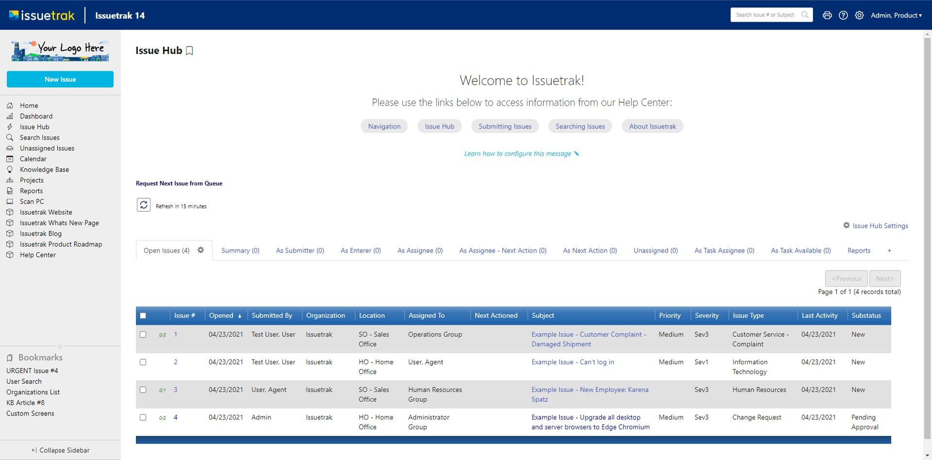 Issuetrak Software - Issue Hub