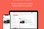 Capture d'écran pour Smarp : Allow employees to receive and discover relevant content in a familiar, news feed format