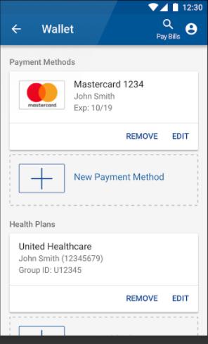 InstaMed digital wallets