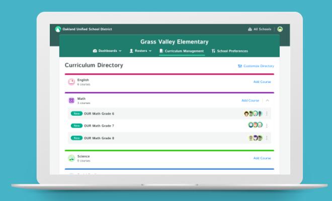 Kiddom Software - School/District-wide Curriculum Management