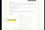 rsvpBOOK screenshot: Enter guest information