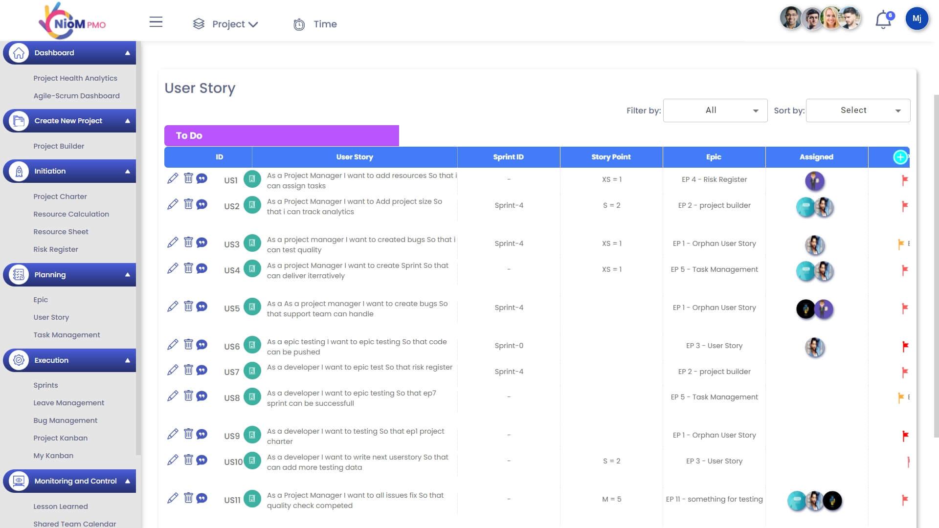 User Story Documentation
