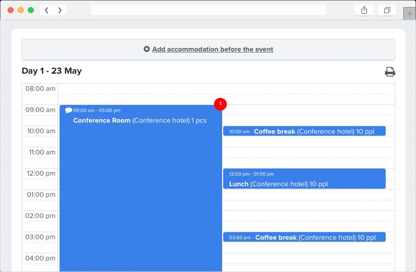 Event Logic event planning