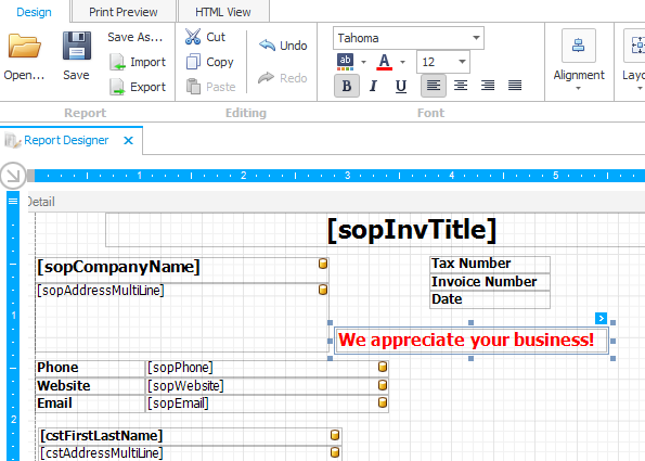 Custom invoices can be created for services and emailed or sent to clients