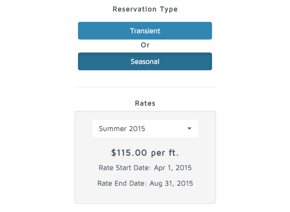 Customize rates and reservation types