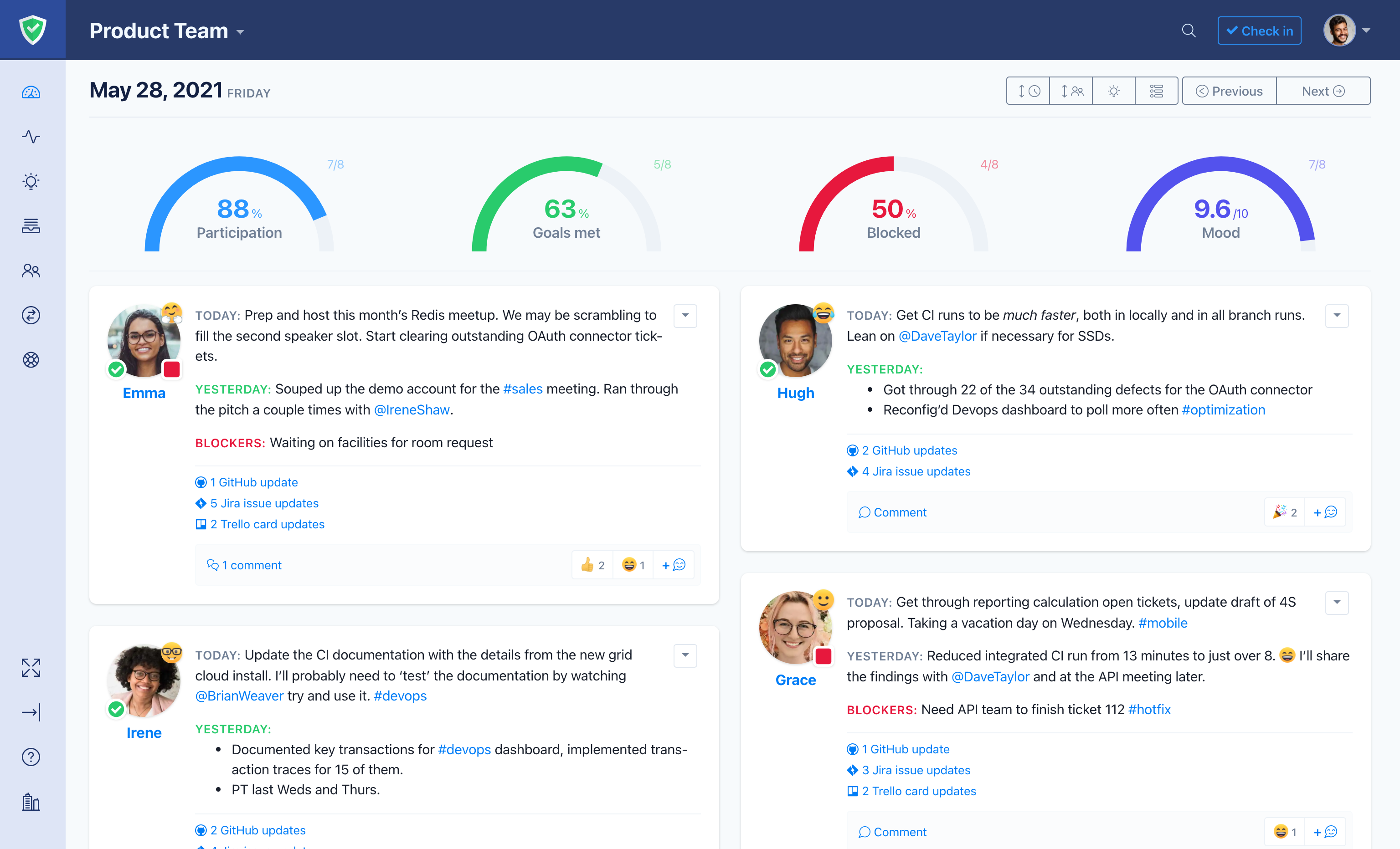 Status Hero Software - See your entire team's activity in a single view