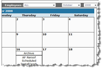 RooferPro screenshot: Use the calendar tool to view upcoming tasks or personal appointments
