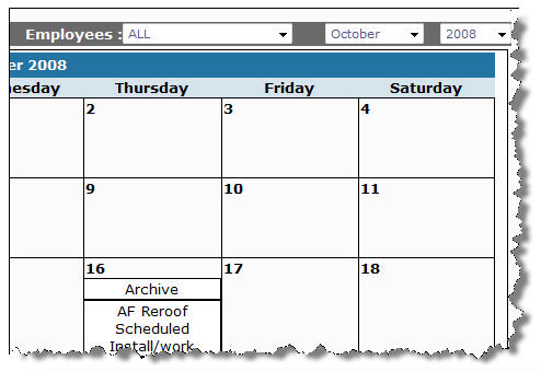 Use the calendar tool to view upcoming tasks or personal appointments
