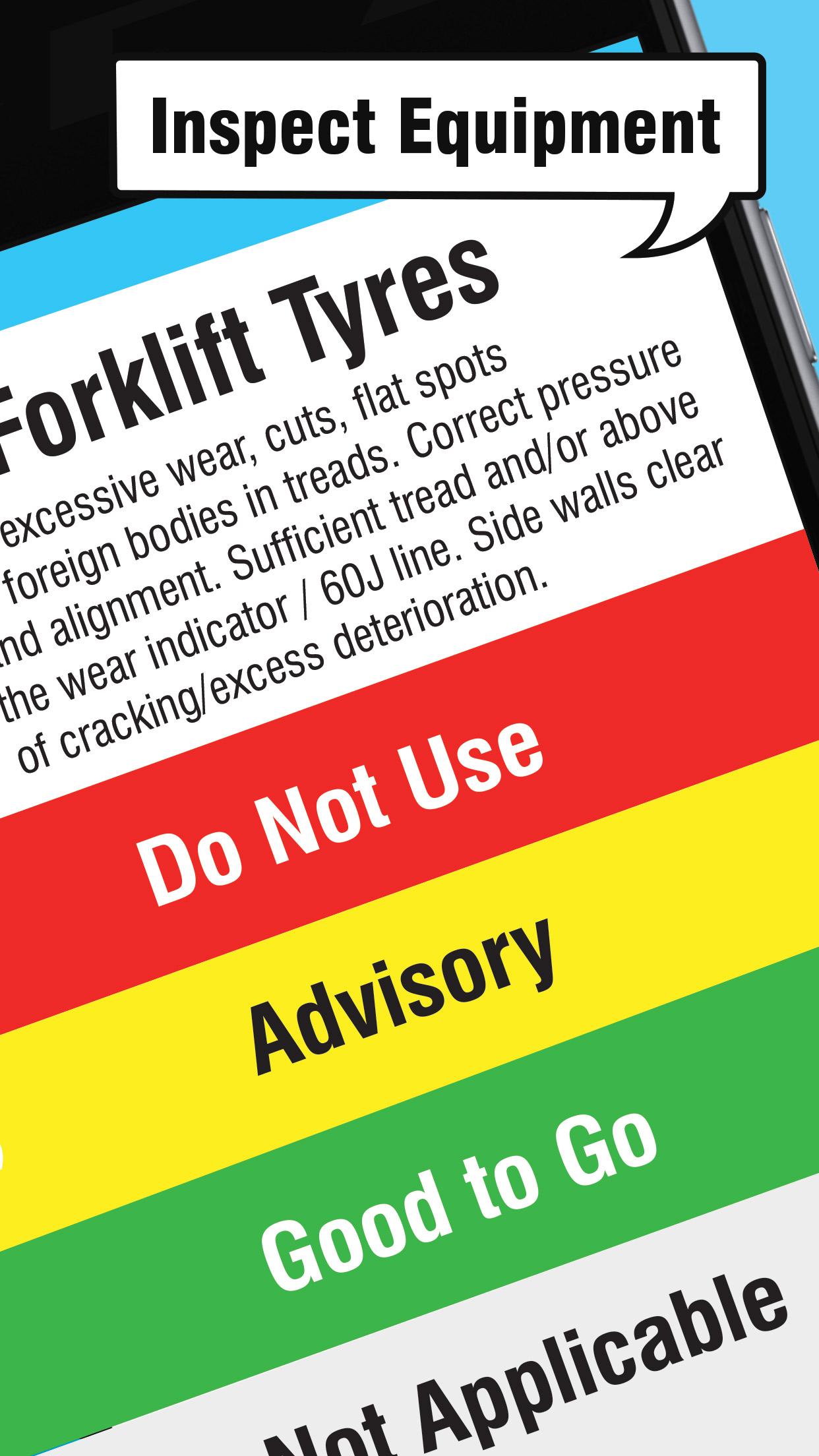 Equipment checklists