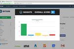 Captura de tela do Bitium: Assess password strength grade for apps through Bitium's Insights