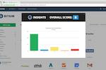 Bitium screenshot: Assess password strength grade for apps through Bitium's Insights
